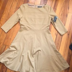 Tan professional dress